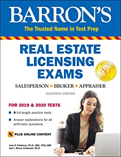 Barron's Real Estate Licensing Exams with Online Digital Flashcards (Barron's Test Prep)