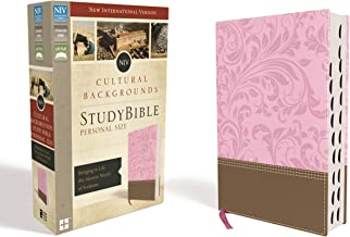 NIV, Cultural Backgrounds Study Bible, Personal Size, Leathersoft, Pink/Brown, Indexed, Red Letter Edition: Bringing to Life the Ancient World of Scripture