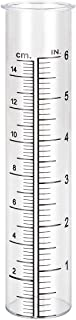 Litake Plastic Rain Gauge Replacement Tube for Yard Garden Outdoor, 6-inch Capacity and Weather-Resistant