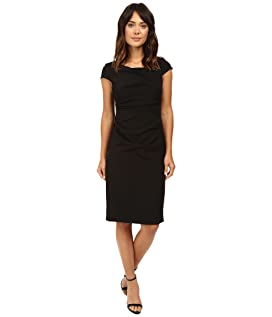 Cowl Side Rusched Sheath Dress