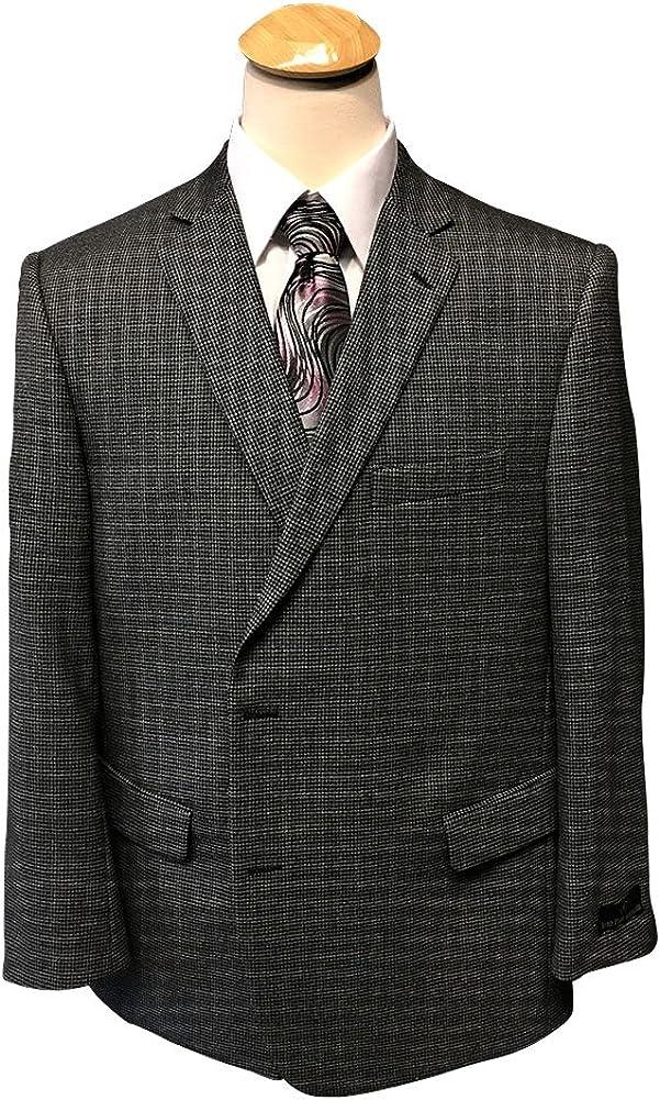 Jean-Paul Germain 100% Wool Portly Executive Mini Check Sport Coat