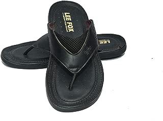 Lee Fox Men Casual Leather Slipper
