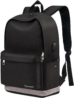 School Backpack, Black College Student Backpack for Men Women Boys Girls, Casual Unisex..