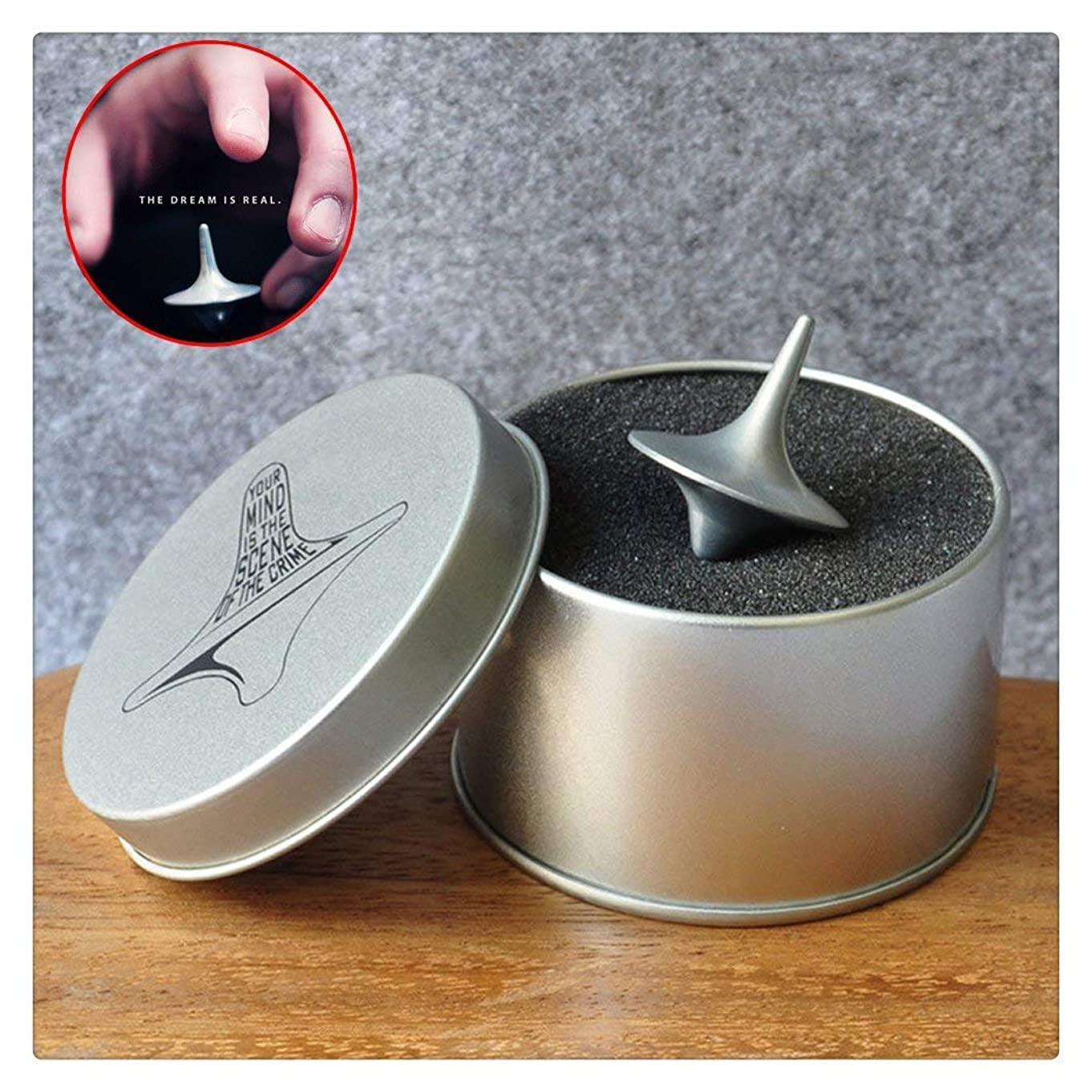 Accurate Spinning Top Inception Totem Accurate Cobb , Vintage Totem Zinc Alloy Silver Toy Gift