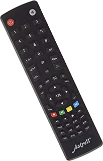 ASTRELL 11999 8 in 1 Universal Remote Control (TV, DVB-T, SAT, DVD, VCD, Home Cinema, AUX), Black