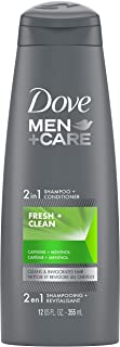 Dove Men+Care Fortifying 2 in 1 Shampoo and Conditioner for Normal to Oily Hair Fresh and Clean with Caffeine Helps Streng...
