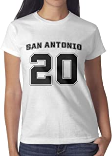 Womens Retired-san-20-player-antonio-2018 O-Neck Tee T-Shirts Casual