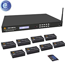 J-Tech Digital 8x8 HDMI 1080p HDCP 1.4 Matrix Switcher Extender Full HD 8 Displays Cat5/6 Cable Supports EDID HDCP Wi-Fi Control with Control 4 Driver [JTECH-8X8-EX50M]
