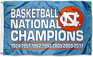 College Flags and Banners Co. University of North Carolina 7 Time Basketball Champions Flag