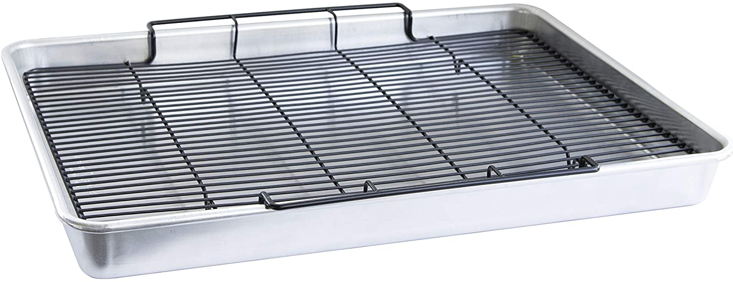 Nordic Ware Long-awaited Translated Extra Large Oven Crisping 21 Baking Rack Tray with