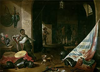 The Polyster Canvas Of Oil Painting 'Teniers Abraham Un Cuerpo De Guardia (II) 17 Century ' ,size: 10 X 14 Inch / 25 X 35 Cm ,this High Resolution Art Decorative Canvas Prints Is Fit For Kitchen Artwork And Home Artwork And Gifts