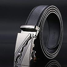 mimiliy Lederen riem lederen automatische gesp zwarte riem heren riem heren riem riem heren (riemlengte: 125 cm Kleur: 6)