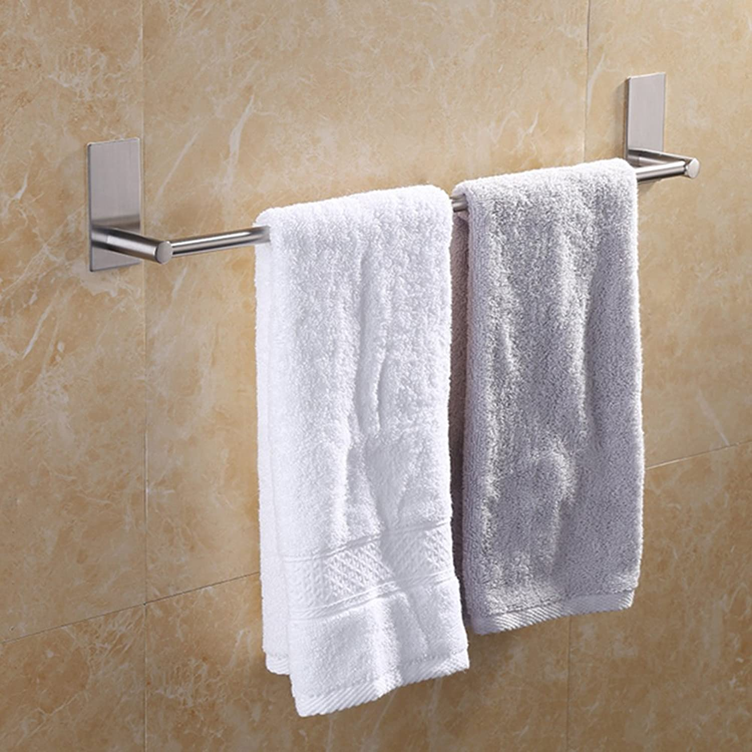 blueecookies Modern Stainless Steel Single Towel Rail Bar Holder Wall Mounted Bath Chrome (40cm)