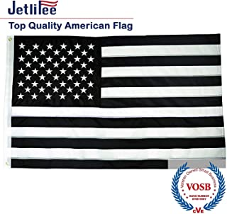 meaning of a black and white american flag
