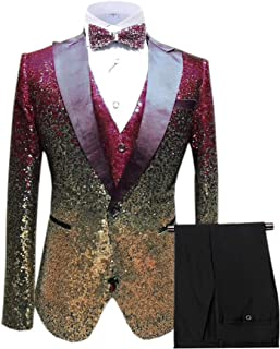 Best burgundy and gold wedding tuxedo Reviews