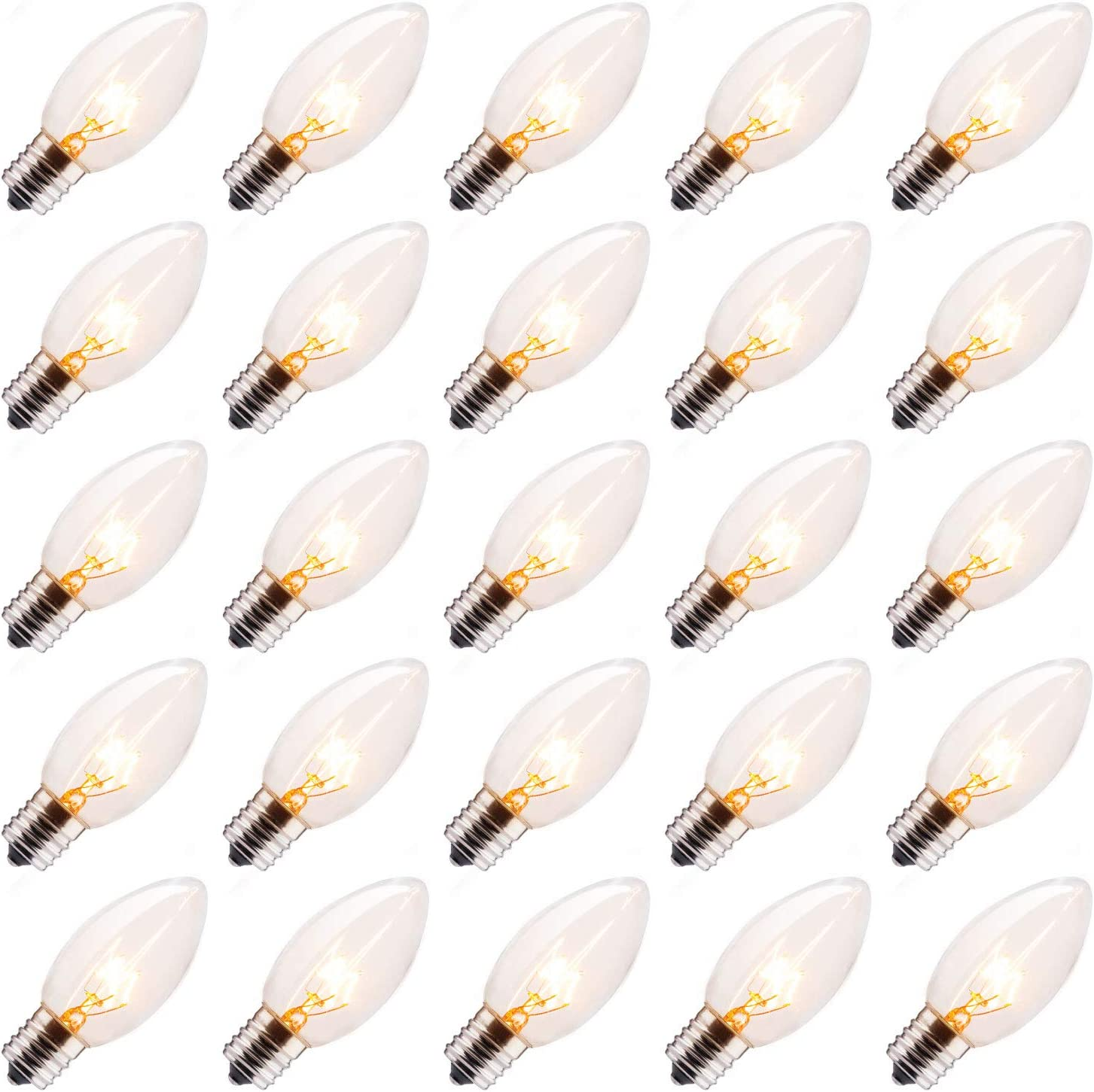 25 Pack Quantity limited C9 Incandescent Bulb Light Christmas Tampa Mall Bul Replacement