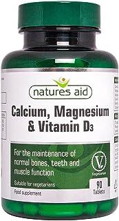Calcium Magnesium and Vitamin D3 Food Supplement (90 Capsules) - Natures Aid