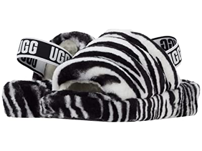 UGG Fluff Yeah Slide (Black/White Zebra) Women