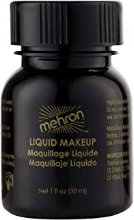 Mehron Makeup Liquid Face and Body Paint (1 oz) (BLACK)