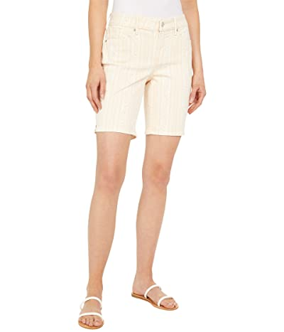 NYDJ Ella 9 Denim Shorts in Vertical Paisley Women