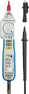 PeakTech 1080 – Digitaler Spannungsprüfer NCV mit LED Display, Stift Handmultimeter, Voltmeter, Elektronisches Strom Messgerät, Durchgangsprüfer, AC/DC, 2000 Counts, Spannungsmesser   Max. 600 V