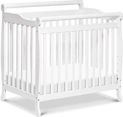 Emily 4-in-1 Convertible Mini Crib in White, Greenguard Gold Certified