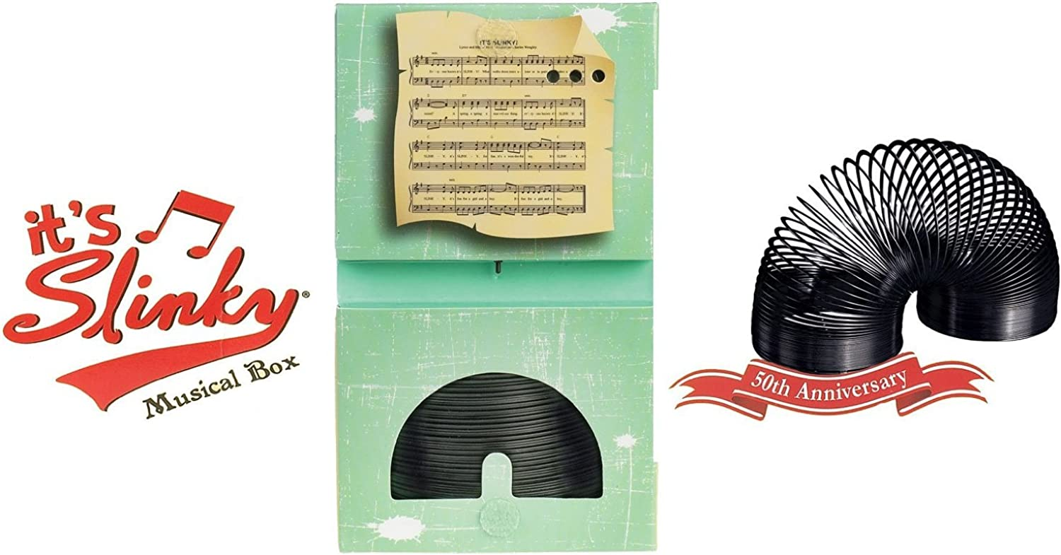 Collector's Edition Original Slinky in Singing Musical Box, Black