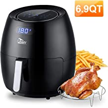 Uten Air Fryer XL, 6.9QT 1700W Electric Hot Air Fryer with Temperature Control & Timer Knob, Fast Oven Oilless Cooker with...
