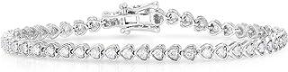 Femme Luxe 2.00 ct. Diamonds and 14K White Gold Venus Diamond Bracelet for Women, (G-H Color, I2 Clarity), Hypoallergenic,...