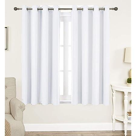 Eyelet Duck Curtain Curtains Panels Windows Cotton White curtain Door 2pcs Set Hand Block Printed