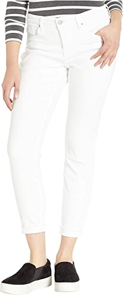 Ami Skinny Ankle w/ Cuff in Optic White