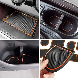 Auovo Anti-dust Door Mats for 2018 2019 Subaru Crosstrek and Impreza Gate Door Liners Inserts Cup Console Mats Interior Accessories (Pack of 14) (Orange)
