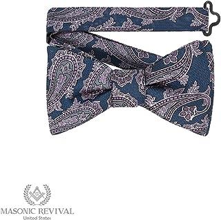 Azul Paisley Bow Tie by Masonic Revival (Pre-Tied)