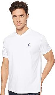 Polo Ralph Lauren Men's V-Neck Classic Fit Short Sleeve T-Shirt, White, Large