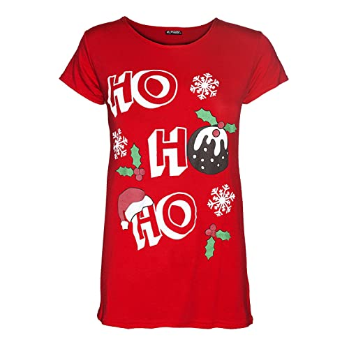 7a085c660 Be Jealous Womens Merry Christmas Reindeer Gingerbread Candy Stick Ladies Xmas  T Shirt Top UK Plus