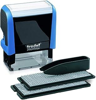Tampon Trodat Printy 4913 Typomatic – 5 Lignes de Texte à Composer Soi-Même – Encrage Automatique – Encre Noire Fournie