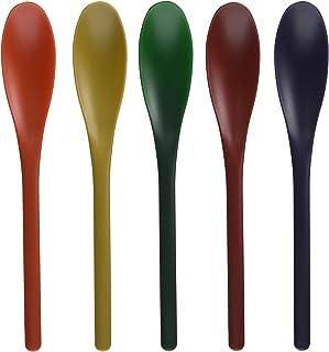 遠藤産商 お口に優しいソフトティースプーン 和色 5本組 16.5cm