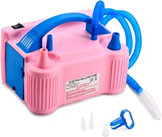 MESHA Electric Balloon Pump Air Pump Inflator Portable Dual Nozzle Pink Air Balloon Pump Filler Inflator/Blower for for Balloon Arch,Balloon Column Stand 110V 600W Air Pump (Pink)