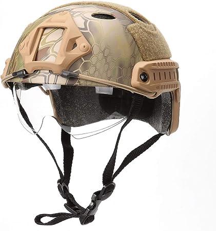 DZLXY Material de Camuflaje ABS Gafas Casco táctico Disparo ...