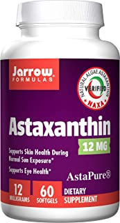 Jarrow Formulas Astaxanthin for Skin, Eye, and Immune health, 12 mg Softgels, 60 count