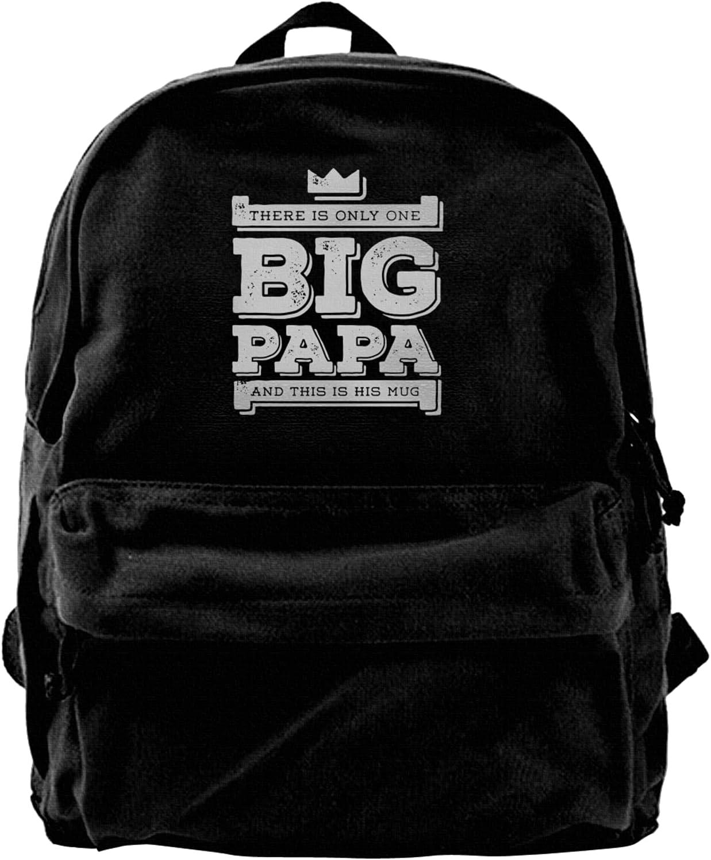 Big Papa Canvas Backpacks Laptop Sh Bags Max 47% OFF Philadelphia Mall Schoolbag High-Capacity