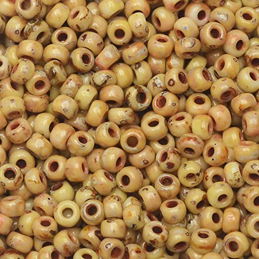 Picasso Canary Yellow Matte 22 Grams Miyuki 8/0 Seed Bead 22 Gram