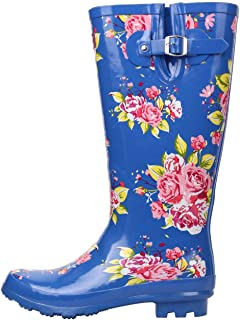 Kangol Kids Printed Festival Juniors Wellies Wellingtons Small Heel Buckle Shoes