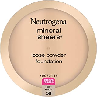 Neutrogena Mineral Sheers Lightweight Loose Powder Makeup Foundation with Vitamins A, C, & E, Sheer to Medium Buildable Co...