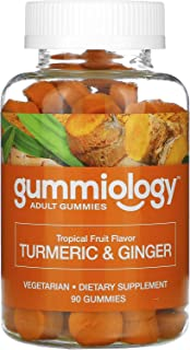 Gummiology Adult Turmeric & Ginger Gummies, Tropical Fruit Flavors, 90 Vegetarian Gummies