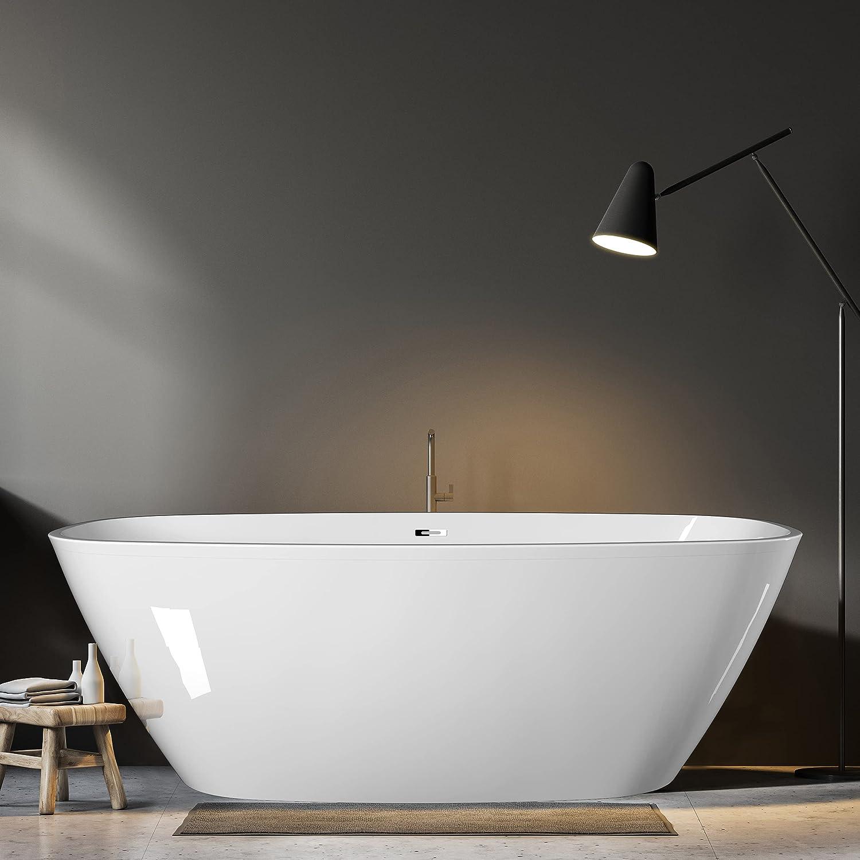 GETPRO 59 Inch trust Special price Freestanding Bathtub Soaking CUPC Modern Cert Tub
