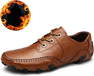 Mens Casual Shoes Lace-Up Autumn Winter Walking Driver Zapatos