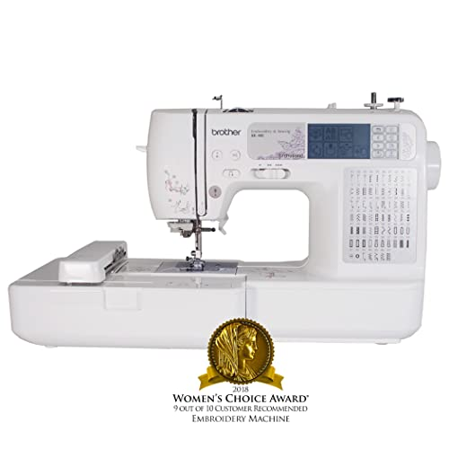 Brother SE400 Combination Computerized Sewing and 4x4 Embroidery Machine With 67 Built-in Stitches,