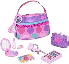 little girl play purses