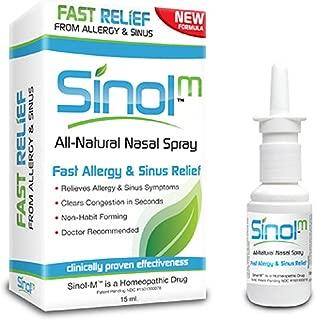 Sinol-M Allergy & Sinus Relief Spray 15 ml (Pack of 2)